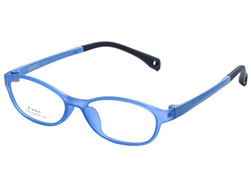 DEDING Kinder Acetate optische Brillenfassung mit Federscharnier DD1398 (Blau)