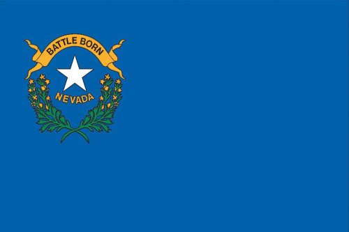 Valley Forge, Nevada State Flag, Nylon, 3'x5', 100% Made in
