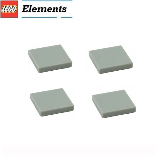 Lego Parts: Tile 2 x 2 (PACK of 4 - LBGray) (Hotel Imperial 21017)