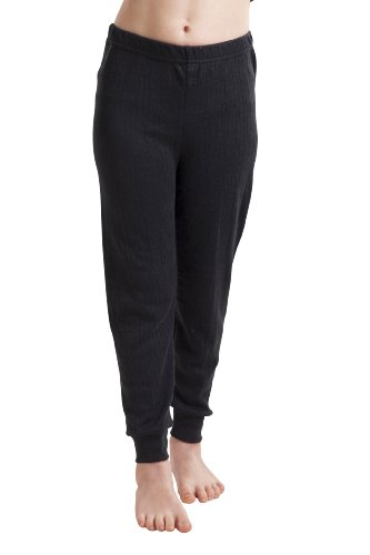 Octave Viscose Range Girls Thermal Long Pants - Size 12/13 Years, Color Black - Octave Range