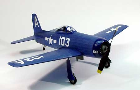 F-8F2 Bearcat Wooden Model Airplane by Dumas for sale  Delivered anywhere in USA