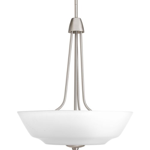 Progress Lighting P3949-09 3-Light Inverted Pendant with Etched Glass Bowl (3 Light Inverted Bowl Pendant)