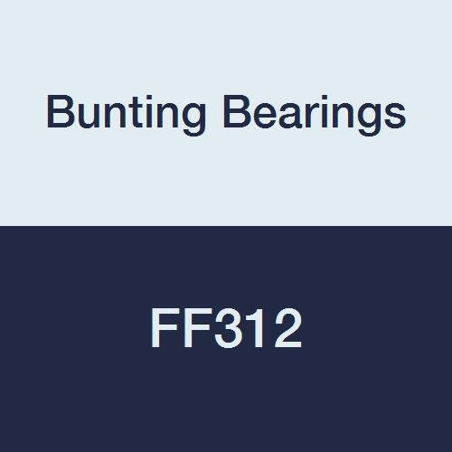 1//4 Bore x 3//8 OD x 1//4 Length x 15//32 Flange OD x 1//16 Flange Thickness Powdered Metal Bunting Bearings FF312 Flanged Bearings SAE 841 Pack of 3