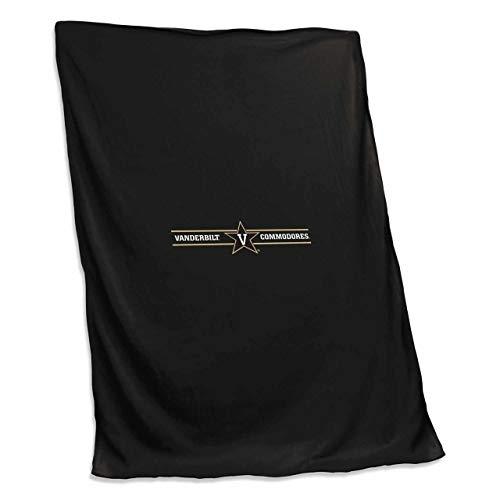 (Logo Vanderbilt Commodores NCAA 54 X 84 Fleece Sweatshirt Blanket - Team Color,)