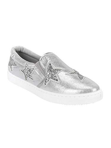 Sneakers Con Tessuto Stelle On Slip Donna Argen 4prp8x