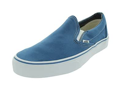 Vans Unisex-Adult Classic Slip-On Classic Slip-on(tm) Core Classics Blue Size: 6.5