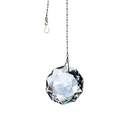 Crystal SunCatcher Swarovski Strass Dahlia Rainbow Crystal Feng Shui Hanging Prism ()