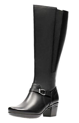 UK Boots Fit Sinai Emslie Wide Clarks 6 Leather Black wqX86R