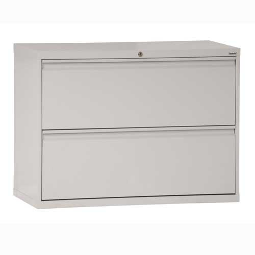 Sandusky Lee LF8F302-05 800 Series 2 Drawer Lateral File Cabinet, 19.25″ Depth x 28.375″ Height x 30″ Width, Dove Gray