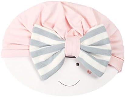 TOYANDONA Zachte hoes voor pasgeborenen van elastisch katoen met tulband voor babys met bogen voor peuters accessoires
