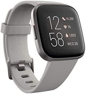 Fitbit Versa 2 - Smartwatch de salud y forma física, Gris piedra/gris niebla