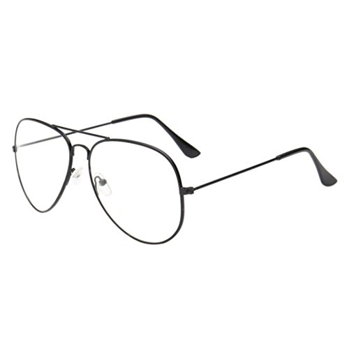 Mchoice Men Women Clear Lens Glasses Metal Spectacle Frame Myopia Eyeglasses Lunette Femme Glasses - Mens Spectacles Designer