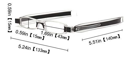 12df580bf5 SOOLALA Best Gifts 5-Pairs 360 Rotating Tube Pen Clip Folding Reading  Glasses