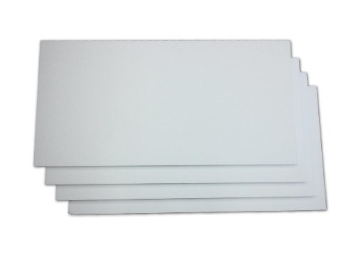 EcoBox 24 x 48 x 1 Inches Expanded Polystyrene Foam Sheet, 4-Pack (E-3222-4)