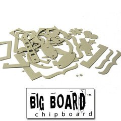 Fancy Pants Big Board Chipboard 6 Inch by 6 Inch Sheet, Brackets/Labels/Tags -