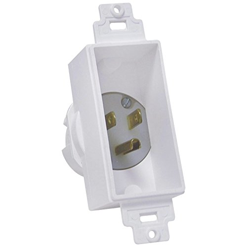 - MIDLITE 4642-W Single Gang Décor Recessed Power Inlet