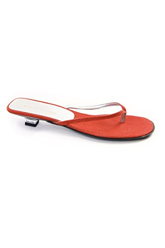 Tongs Rouge femme Red Canvas pour Fornarina Rdq4FR