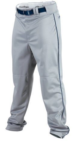 Rawlings Men's Baseball Pant (Blue Grey/Navy, Medium)