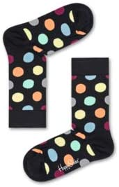 Happy Socks Women's Big Dot Sock Black Combo 9-11