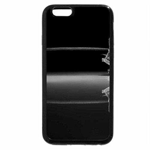 iPhone 6S Plus Case, iPhone 6 Plus Case (Black & White) - Dried rose