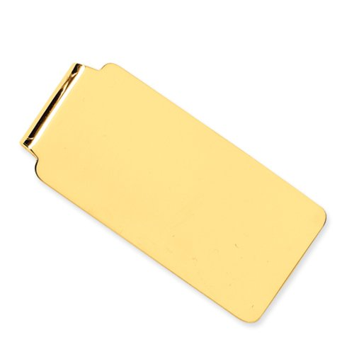 Polished Money Clip in 14 Karat Yellow Gold
