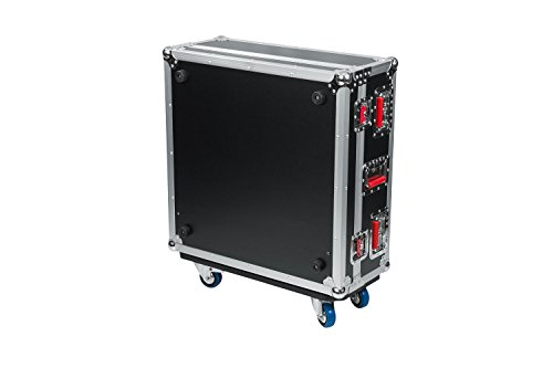 """Gator Cases G-TOUR ATA Style Road Case - Custom Fit for Allen and Heath QU24 Mixer with Dog House and Heavy Duty 4"""" Casters; (G-TOURQU24)"""