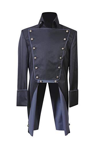 GOTEDDY Men's Norm Lewis Costume Cosplay Jackt Uniform Halloween Tops Coat Black L -