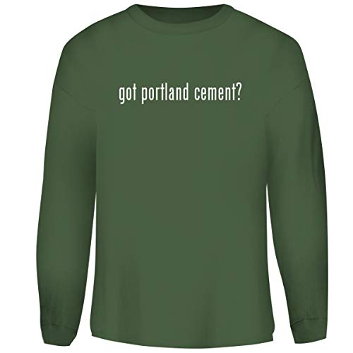 (One Legging it Around got Portland Cement? - Men's Funny Soft Adult Crewneck Sweatshirt, Military, X-Large)