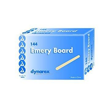 Dynarex 4895 Emery Boards, Case, 24 Boxes, 3456 Files,