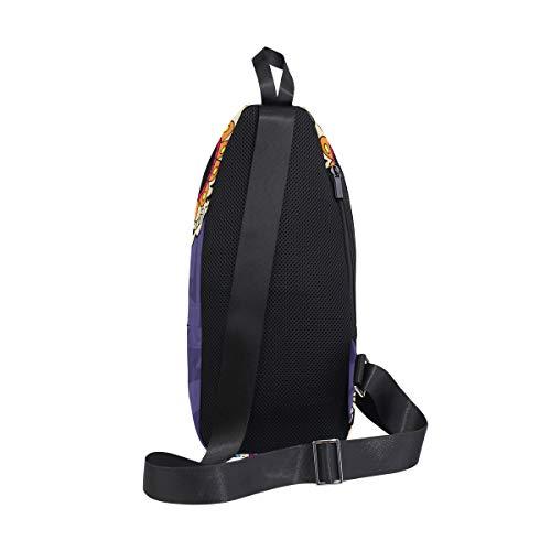 Backpack Body Bag Shoulder Los Small amp; Men Women Sling Bennigiry Waterproof Sugar Chest Dia Skull De For Cross nw0WEzO7Uq