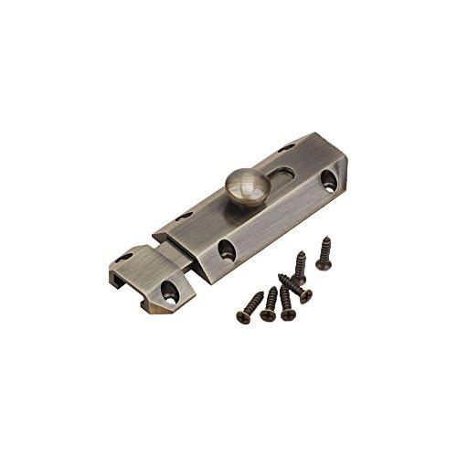 Slide Heavy Duty Gate (Zhi Jin 1Pc Thick Pure Brass Slide Barrel Door Bolt Heavy Duty Gate Security Lock Latch Bronze)