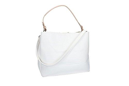 Bolsa mujer hombro con bandolera PIERRE CARDIN blanco con abertura con zip VN1752