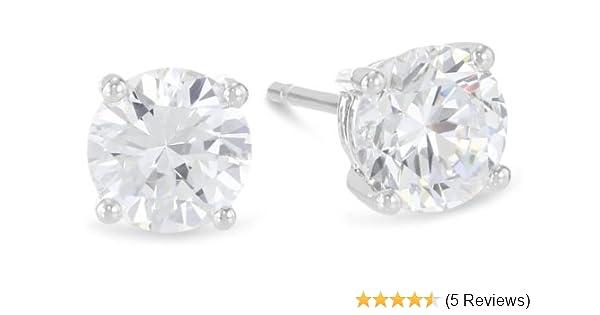 484d59ea0 3/4 Carat Solitaire Diamond Stud Earrings Round Cut 4 Prong Push Back (K-L  Color, I1-I2 Clarity)