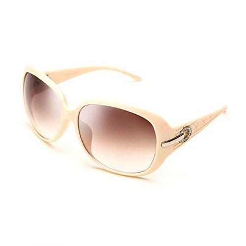 De Gafas Blanco nbsp; crema Protector Solar Elegantes HONEY Rhinestone crema Mujeres De Blanco Conducción Polarizadas Las Sol Color De Gafas Exquisito qHdppw5O