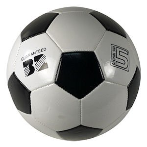 European Panel Official Size Soccer Ball Black and White Size No.5 iGifts Inc.