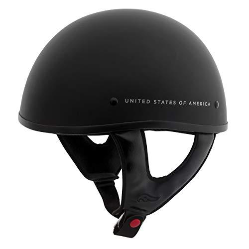 Fulmer, AF-9002515H, Adult Motorcycle Half Helmet - Honor-Flat Black, XL