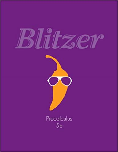 Precalculus 5th edition robert f blitzer 9780321837349 amazon precalculus 5th edition 5th edition fandeluxe Choice Image