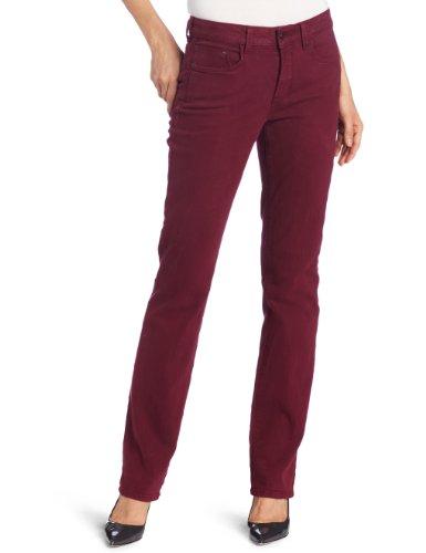NYDJ Women's Petite Marilyn Straight Jeans, Azalea, 12P Stretch Sueded Cotton Pants