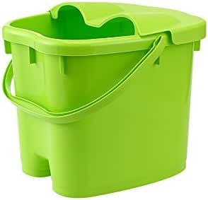 AI Foot Bath Bucket Thicker Plastic Massage Foot Bath Heightening Cover Household Footbath Medium Can Be Used with Your Favorite Bath Salts and Essential Oils 22 * 30 * 30cm (Color : Green)