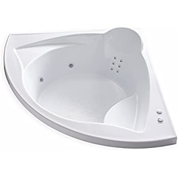 Carver Tubs   ME6060 Corner Drop In   12 Jet, Self Draining Whirlpool  Bathtub With
