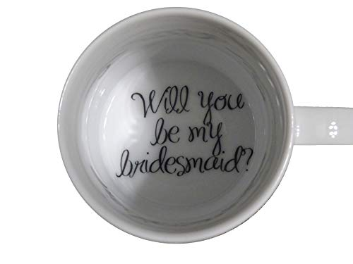 topmug Will You Be My Bridesmaid Coffee Mug, Bride Mug, Father, Bottom Mug, Hidden Message, Secret Message, surprize