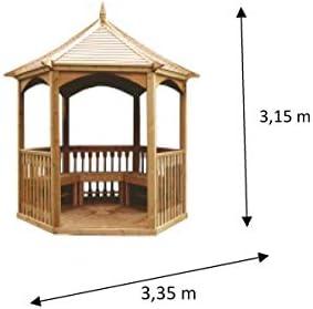 Habrita Foresta habrita – habrita – Gazebo de jardín hexagonal techo madera – 4,74 M²: Amazon.es: Bricolaje y herramientas