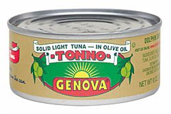 GENOVA TONNO OLIVE OIL, 24 pack of 3 oz cans (Tuna Genova)