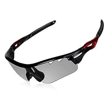 DEKINMAX Gafas Ciclismo Protección UV Gafas de Sol Ligeras con Gafas Correa para Deportes BTT Moto Pesca Playa Golf Senderismo