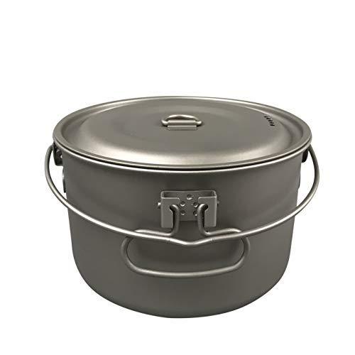 Jolmo Lander Titanium Pot with Bail Handle Outdoor Ultralight Titanium Cookware 1.3L [並行輸入品] B07R4WNMD4