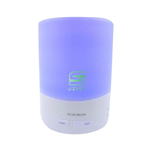 JZHY 300ml Aroma Essential Oil Diffuser air Humidifier Negative Ion Generator,3rd Version Humidifier-Long Lasting-4 Timer Settings-7 Color LED Lights-AUTO Shut off for Bedroom/Kids Room/Spa/Baby