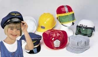 Career Hat Set - 7 Piece Set for Dress Up Pretend Play (Dress Up Hats)