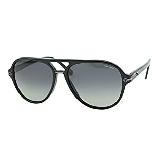 Chopard SUPERFAST SCH 193 700Z Men Black Polarized Racing Aviator Sunglasses