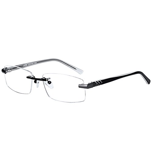 FUJUE Rimless Computer Reading Glasses.Protect Your Eyes Against Eye Strain,Fatigue and Dry Eyes with Anti Blue Light,Anti UV,Anti Glare,Anti Reflective - Light Blue Do Glasses Do Blocking What