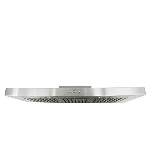 Trading Corp Oven (KOBE RAX2136SQB-1 Brillia 36-inch Under Cabinet Range Hood, 3-Speed, 750 CFM, LED Lights, Baffle Filters)